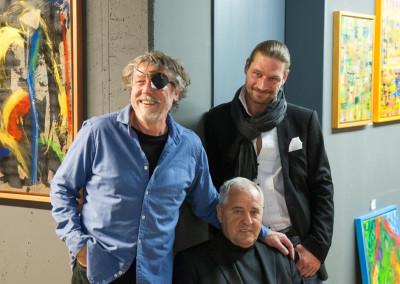 Künstlerfrühstück Thomas Reimann, Fritz Wolf, Mirko Joerg Kellner © Blanche Chantal Kellner