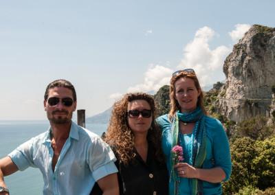 Mirko Joerg Kellner mit seiner Frau Bea und Anette Rietz bei Fotoreportage an der Amalfiküste