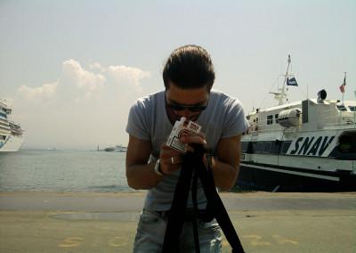 Mirko Joerg Kellner unterwegs bei Fotoreportage in Neapel
